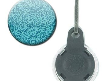 Zipper Badge 25 mm - Liberty fabric Flashy pattern