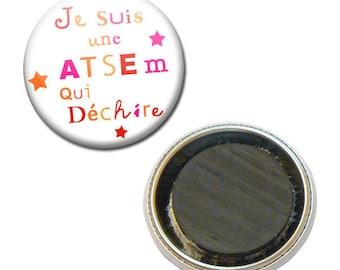 Badge 38 mm Fridge Magnet - I'm a school that rocks kindergarten kids gift