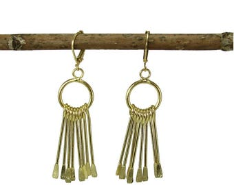 Chime Earrings - gold - Silver - WorldFinds