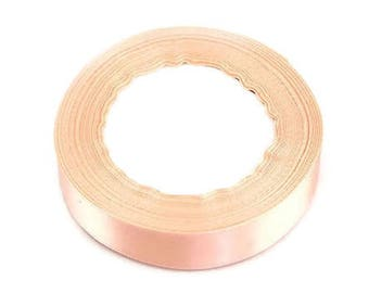 Satin ribbon 6mm pink orange