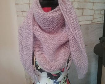 Arabic scarf or shawl oversize mohair and acrylic