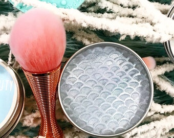 North Atlantic Mermaid Cosmetic Brush Soap. Solid brush cleaner. Brush cleanser