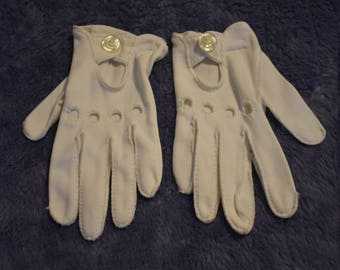 Vintage Girls Cotton Gloves