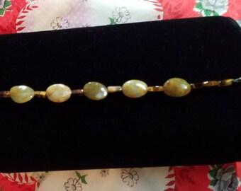 Ancient Jade and Tiger's Eye Bracelet
