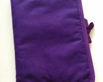 Health Book personalize flocking, applique etc. Purple color fabric outline choice.