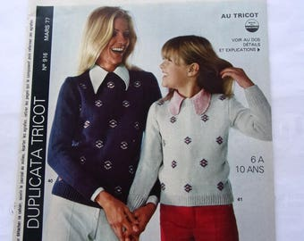 vintage out - March 1977 CROCHET KNITTING booklet
