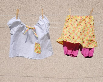 set skirt shorts and blouse matching