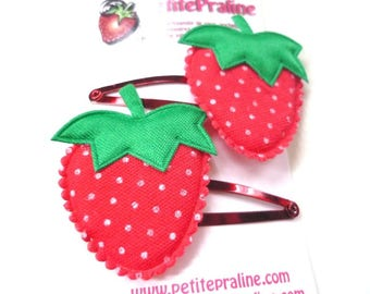 Strawberry Hair clips Barrettes