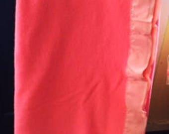 VINTAGE PINK VIRGIN Wool Blanket