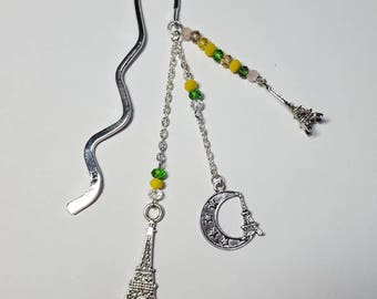 "Small bookmark ""Tour Eiffel"" yellow and green"