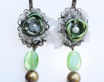 Vintage earrings Green Lantern