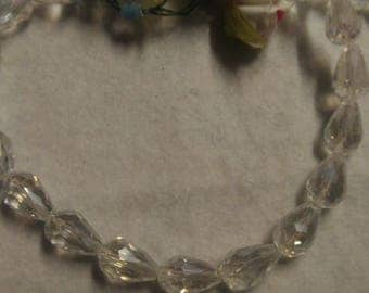 Set of 25 faceted Crystal beads