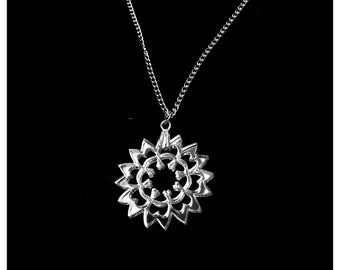 Adjustable necklace - snowflake - plexiglass mirror