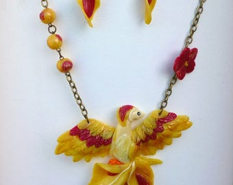 """For the October challenge: """"French phrases"""": set the Phoenix rising from ashes"""