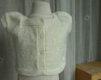 small 6/9 months vest hand knit