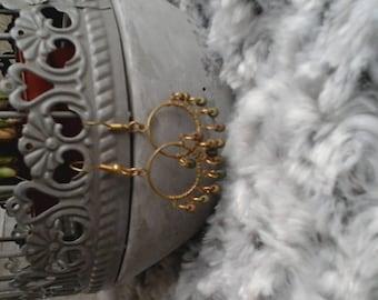 Oriental Pearl drops earrings