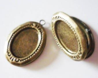 Locket latch oval bronze (ref L2)