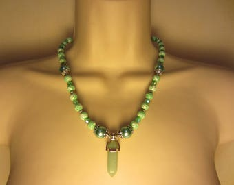 Aventurine pendant necklace