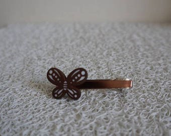 Brown Butterfly hair clip