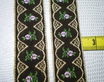 old lace embroidered Brown background