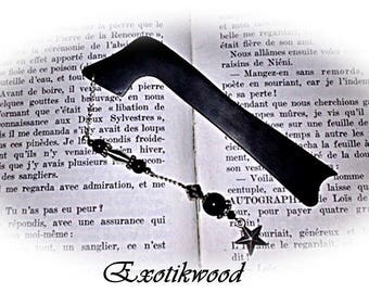 Bookmarks in black Gabon ebony