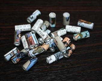 Comic strip paper beads