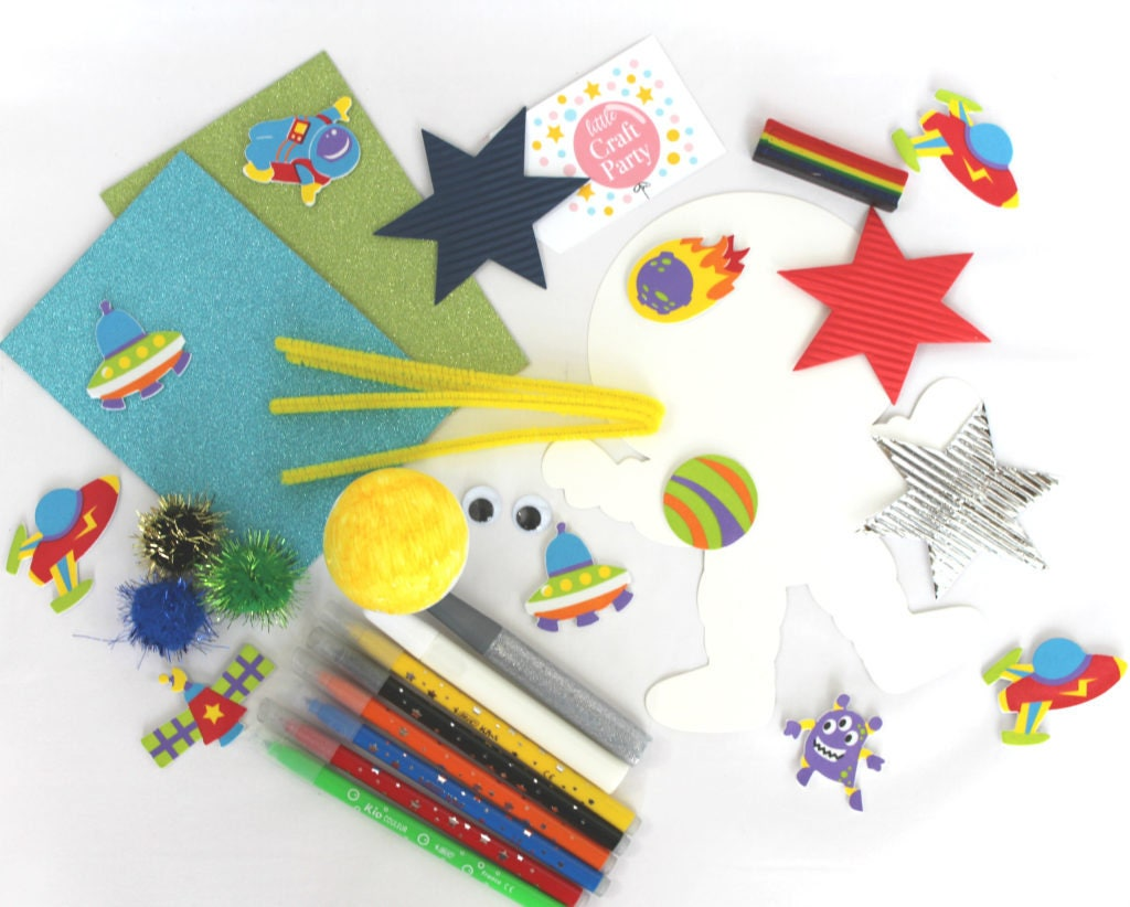 Craft Activity Kit Space Party Crafts For Children Kids Boys Pre Filled Gifts From