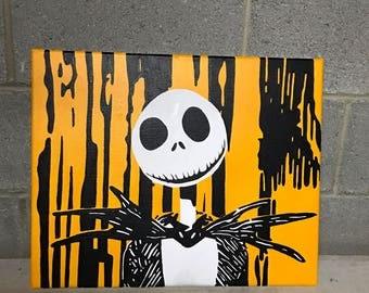 Nightmare Before Christmas Jack Skellington Acrylic Painting 16x20