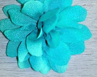 Pretty green organza fabric flower