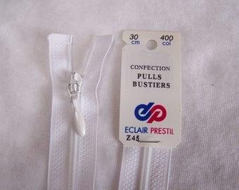 White nylon zipper (Z45 400)