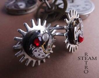 Steampunk cuff links - men - boy cuff links Steampunk jewelry by Steamretro