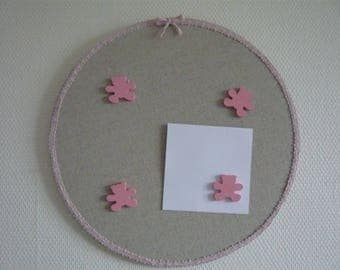 peeling mixes girl magnets and magnetic linen pink bear