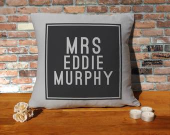 Eddie Murphy Pillow Cushion - 16x16in - Grey