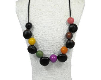 Necklace from exotiques011 seeds and tagua beads