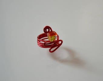 Red aluminum ring.