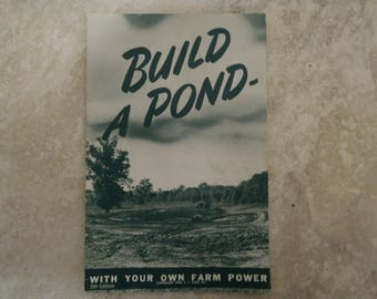 "J.I. Case ""Build A Pond"" Literature"