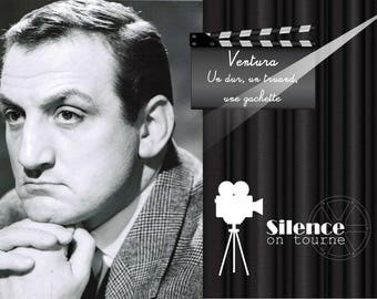 """Placemat """"Film on"""", with Lino Ventura"""