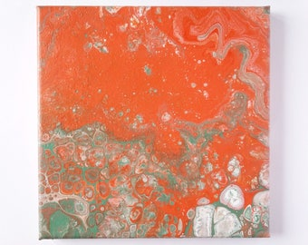 "Abstract Art Acrylic Painting Original | ""Vibrancy"" 20cm x 20cm Canvas"
