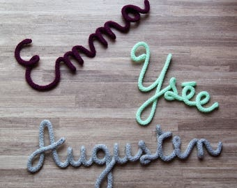 Word or name in knitting..... totally customizable