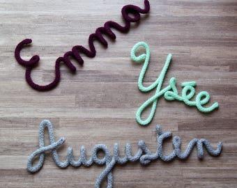Mot ou prénom en tricotin ... totalement personnalisable