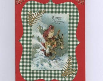 Vintage Santa Claus greeting card-269