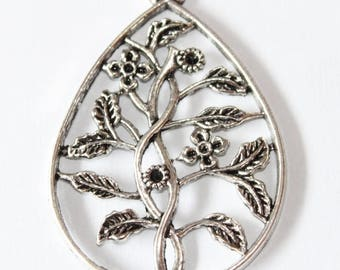 shrub pendant 58 mm, set of 2 silver