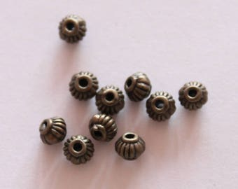 spacer connector 5 * 4 mm Pearl, set of 10