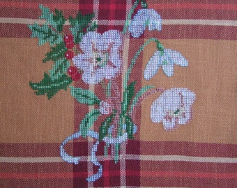 Winter flowers embroidery