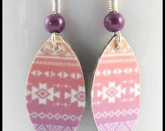 Inca motif earrings