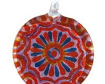 Red glass pendant.