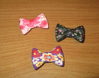 Set 3 bead colors bows