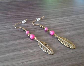 Fuchsia feather
