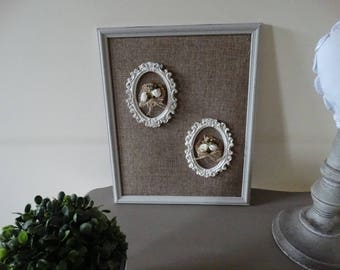Frame color decorated with linen white frames