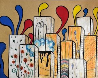 """Card postcard - """"Urban Art"""" - Lili'$"""